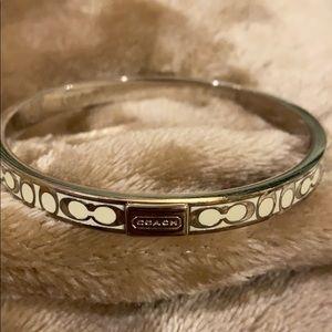 Coach slip on bangle bracelet